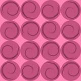 Círculos rosados con espirales, papel de embalaje Imagen de archivo libre de regalías