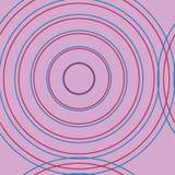 Círculos rosados en círculos stock de ilustración
