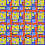 Círculos roxos do teste padrão sem emenda no amarelo foto de stock