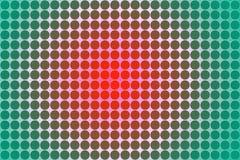 Círculos sem emenda abstratos em verde, no rosa e no fundo vermelho imagem de stock