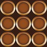 Círculos sem emenda do teste padrão Foto de Stock Royalty Free