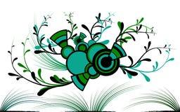 Círculos sobre hierba Stock de ilustración