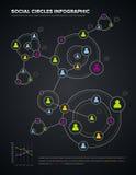 Círculos sociais infographic ilustração stock