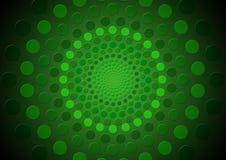 Círculos sombreados verde abstracto Foto de archivo