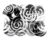 Círculos sujos ilustração stock