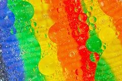 Círculos transparentes coloreados multi Fotografía de archivo
