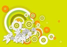 Círculos verde-oliva Imagem de Stock