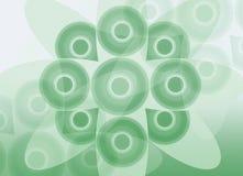 Círculos verdes Fotografia de Stock