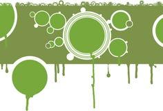 Círculos verdes imagens de stock royalty free