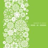 Círculos verdes del vector y blancos abstractos verticales Imagenes de archivo