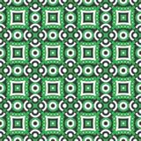 Círculos verdes teste padrão, fundo do vetor Fotografia de Stock Royalty Free