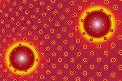 Círculos vermelhos e amarelos ilustração do vetor