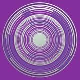 CÍRCULOS violetas del futuro, SOBRE el fondo violeta Foto de archivo