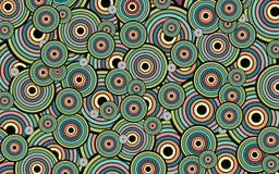 Círculos y anillos abstractos del fondo Fotografía de archivo libre de regalías
