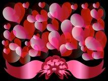 Círculos y corazones 3 ilustración del vector