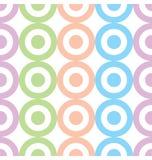 Círculos y Dots Pastel Colors Seamless Pattern Foto de archivo libre de regalías