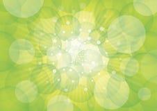 Círculos y luz verdes