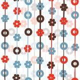 Círculos y modelo de flores redondos Fotos de archivo libres de regalías