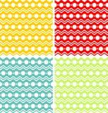Círculos y ondas blancos en fondos coloreados Foto de archivo