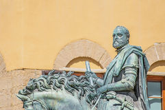 Còsimo di Giovanni degli Mèdici statue in Florence, Italy. Còsimo di Giovanni degli Mèdici statue at Piazza della Signoria, the first of the Medici stock image