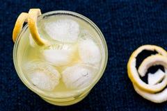 Cóctel amarillo del pájaro con el limón Foto de archivo libre de regalías