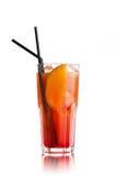 cóctel anaranjado en blanco Imagen de archivo libre de regalías
