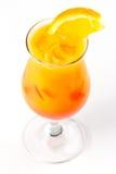 Cóctel con la naranja Fotografía de archivo libre de regalías