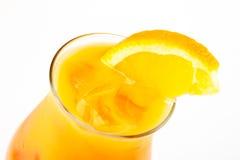 Cóctel con la naranja Foto de archivo libre de regalías