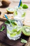 Cóctel de la bebida del kiwi Foto de archivo