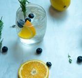 Cóctel de la soda del limón imagenes de archivo