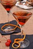 Cóctel de martini de la cereza Foto de archivo