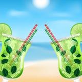 Cóctel de Mojito stock de ilustración