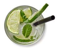Cóctel de Mojito o bebida de la soda Fotografía de archivo libre de regalías