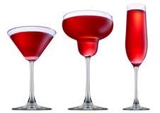Cóctel del alcohol aislado en el fondo blanco foto de archivo