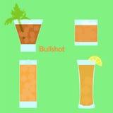 Cóctel del alcohol de Bullshot Foto de archivo libre de regalías