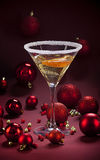 Cóctel del champán de la Navidad Foto de archivo libre de regalías