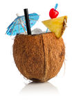 Cóctel del coco Imágenes de archivo libres de regalías