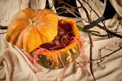 Cóctel del partido de la calabaza de Halloween Imagen de archivo libre de regalías