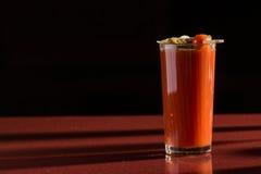 Cóctel delicioso del bloody mary del tomate Fotografía de archivo libre de regalías