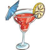 Cóctel dibujado mano Bebidas alcohólicas Foto de archivo