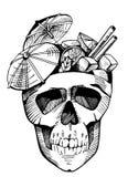 Cóctel en cráneo Fotos de archivo