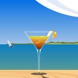 Cóctel en la playa Stock de ilustración