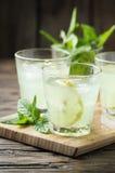 Cóctel fresco con soda y el limón Fotografía de archivo libre de regalías