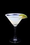 Cóctel Margarita en un fondo negro Fotos de archivo
