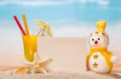 Cóctel, muñeco de nieve y estrellas de mar Imagen de archivo