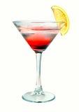 Cóctel rojo de martini con hielo Imágenes de archivo libres de regalías