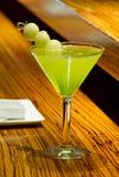 Cóctel verde de Martini del melón Foto de archivo libre de regalías