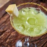 Cóctel verde del melón del margarita fotos de archivo
