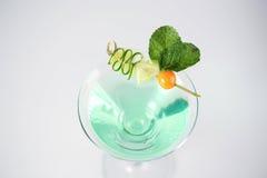 Cóctel verde y fresco delicioso Fotografía de archivo