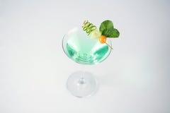 Cóctel verde y fresco delicioso Imagen de archivo libre de regalías